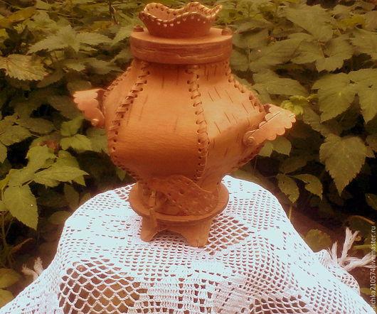 Сувениры ручной работы. Ярмарка Мастеров - ручная работа. Купить Самовар-шкатулка (малая). Handmade. Бежевый, сувенир, берестяной туес