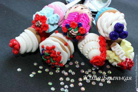 Ложки ручной работы. Ярмарка Мастеров - ручная работа. Купить Ложечки со сладостями. Handmade. Ложки, тортики, подарок девушке