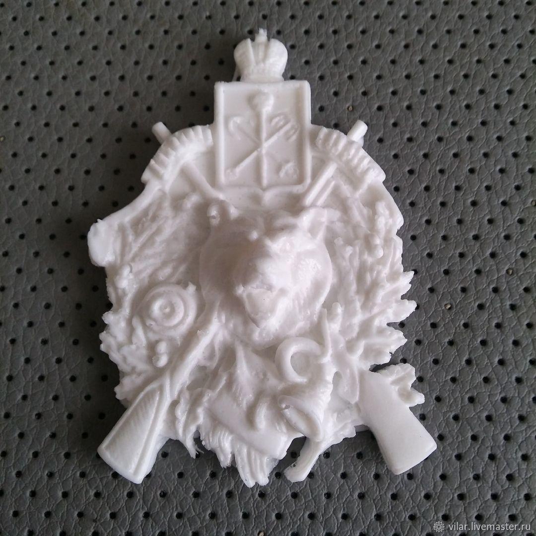 Эмблема охотничья с волком, Декор для декупажа и росписи, Балашиха,  Фото №1