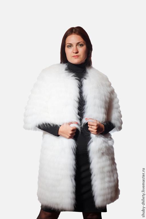 Верхняя одежда ручной работы. Ярмарка Мастеров - ручная работа. Купить Снежная шубка. Handmade. Белый, шубка, жилет меховой