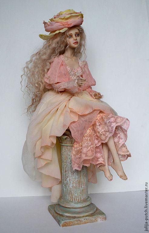 Коллекционные куклы ручной работы. Ярмарка Мастеров - ручная работа. Купить Авторская кукла Чайная роза. Handmade. Кремовый