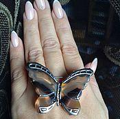 Украшения ручной работы. Ярмарка Мастеров - ручная работа Брошь бабочка из агата в серебре 925. Handmade.