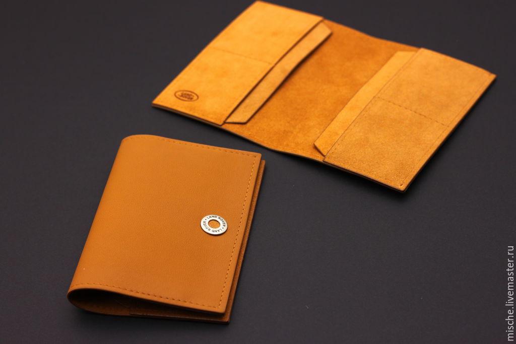 93e3d7995b3d ручной работы. Ярмарка Мастеров - ручная работа. Купить Обложка для паспорта  кожаная.
