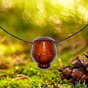 Украшения handmade. Livemaster - original item Cedar wood aroma bottle for essential oils WP42. Handmade.