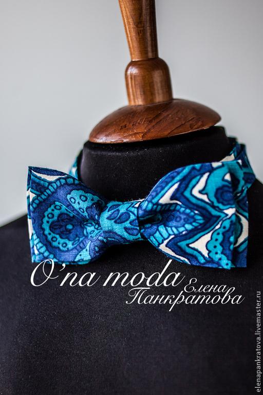 Галстуки, бабочки ручной работы. Ярмарка Мастеров - ручная работа. Купить галстук-бабочка (в ассортименте). Handmade. Синий, галстук
