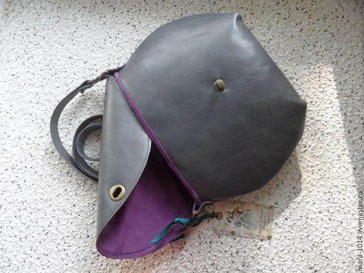 Женские сумки ручной работы. Ярмарка Мастеров - ручная работа. Купить СУМЕРКИ дымчато-серая сумочка на подкладке из натуральной замши. Handmade.
