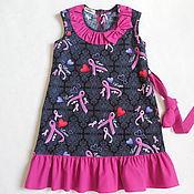 Платья ручной работы. Ярмарка Мастеров - ручная работа Рост 110.Платье нарядное детское розовое. Handmade.