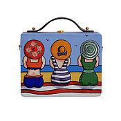 Сумки и аксессуары handmade. Livemaster - original item Women`s bag On the sea made of wood with painting. Handmade.