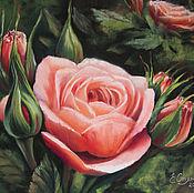 Картины и панно ручной работы. Ярмарка Мастеров - ручная работа Роза. Пастель. Handmade.
