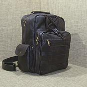 Сумки и аксессуары handmade. Livemaster - original item Men`s leather backpack KONSTANTIN chocolate. Handmade.
