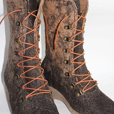 Обувь ручной работы. Ярмарка Мастеров - ручная работа Ботинки: Трюфели лесные. Handmade.