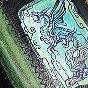 """Канцелярские товары ручной работы. Ярмарка Мастеров - ручная работа Кожаная обложка для книги """"Ущелье драконов"""". Handmade."""