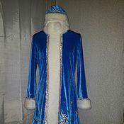 Одежда ручной работы. Ярмарка Мастеров - ручная работа Костюм Снегурочки из бархата-стрейч. Handmade.