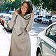 Верхняя одежда ручной работы. Пальто-трансформер (beige). German Kuch. Интернет-магазин Ярмарка Мастеров. Однотонный, пальто демисезонное