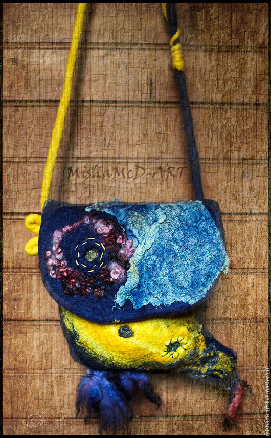 Женские сумки ручной работы. Ярмарка Мастеров - ручная работа. Купить маленькая сумка через плечо ,, Рыбка,,. Handmade. Рисунок