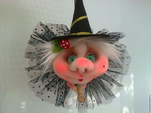 Приколы ручной работы. Ярмарка Мастеров - ручная работа. Купить Кукла -попик Гламурная  ведьмочка,. Handmade. Ведьмочка, оберег, румяна