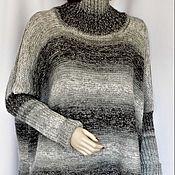 """Одежда ручной работы. Ярмарка Мастеров - ручная работа Свитер вязаный """"Серый градиент"""".. Handmade."""
