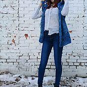 Одежда ручной работы. Ярмарка Мастеров - ручная работа Жилет голубой меланж. Handmade.