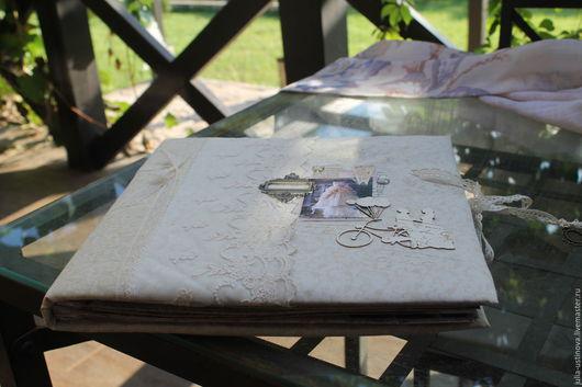 """Свадебные фотоальбомы ручной работы. Ярмарка Мастеров - ручная работа. Купить Свадебный скрапальбом для фото """"С нежностью вместе..."""". Handmade."""