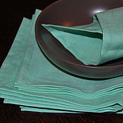 """Для дома и интерьера ручной работы. Ярмарка Мастеров - ручная работа Салфетки """"Tiffany"""" льняные. Handmade."""