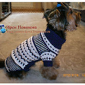 Для домашних животных, handmade. Livemaster - original item Boy`s sweater with print. Handmade.