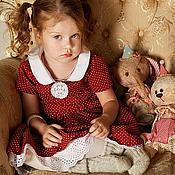 """Работы для детей, ручной работы. Ярмарка Мастеров - ручная работа платье """"Земляника со сливками"""". Handmade."""