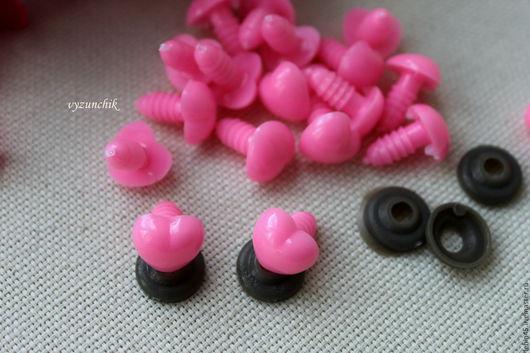 Куклы и игрушки ручной работы. Ярмарка Мастеров - ручная работа. Купить Розовый носик сердечко. Handmade. Черный, носики для мишек