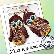 Материалы для творчества handmade. Livemaster - original item Sovushka - eyeglass case. Master class (crochet). Handmade.