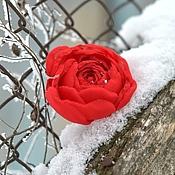 Украшения ручной работы. Ярмарка Мастеров - ручная работа алая роза. Handmade.