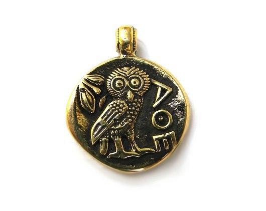 "Кулоны, подвески ручной работы. Ярмарка Мастеров - ручная работа. Купить Кулон ""Тетрадрахма"". Handmade. Амулет, птица, античная монета"