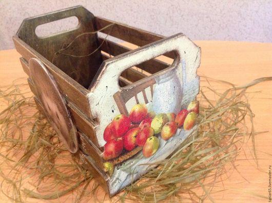 Корзины, коробы ручной работы. Ярмарка Мастеров - ручная работа. Купить Ящик для хранения. Handmade. Коричневый, семена, фанера