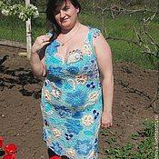 Одежда handmade. Livemaster - original item Dress knitted bloom Sundress Pinafore dress. Handmade.
