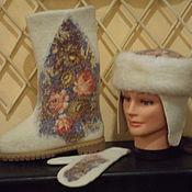 """Обувь ручной работы. Ярмарка Мастеров - ручная работа """"Купава"""" - комплект: валенки, шапочка, варежки. Handmade."""