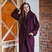 Одежда handmade. Livemaster - original item MARSALA coat with a shawl collar. Handmade.