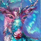 "Картины и панно handmade. Livemaster - original item Картина холст масло север 70/50 ""Там на краю земли-9"". Handmade."