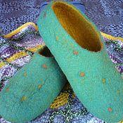 Обувь ручной работы handmade. Livemaster - original item Slippers felted Fun polka dots. Handmade.