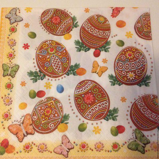 Салфетка для декупажа -Пасхальные яйца, многоэлементная Декупажная радость