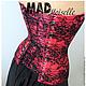 Корсеты ручной работы. Красно-черный корсет. MAD cosplay & craft (MAD-Moiselle). Ярмарка Мастеров. Атлас