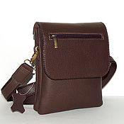 Сумки и аксессуары handmade. Livemaster - original item Mens leather handbag brown Theseus. Handmade.