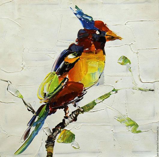 """Животные ручной работы. Ярмарка Мастеров - ручная работа. Купить Картина маслом """"Все дело в красоте N3"""", серия """"Птицы"""". Handmade."""