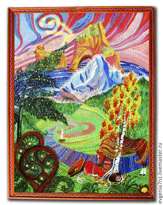 """Фантазийные сюжеты ручной работы. Ярмарка Мастеров - ручная работа. Купить Картина на холсте """"Безмятежный сон"""". Handmade. Репродукция холст"""