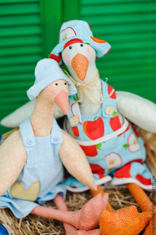 Куклы Тильды ручной работы. Ярмарка Мастеров - ручная работа. Купить Гуси Альберт и Дуня. Handmade. Гуси, тильда гусь
