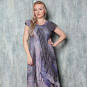 """Одежда ручной работы. Ярмарка Мастеров - ручная работа Авторское валяное платье """"Ash lavender """". Handmade."""