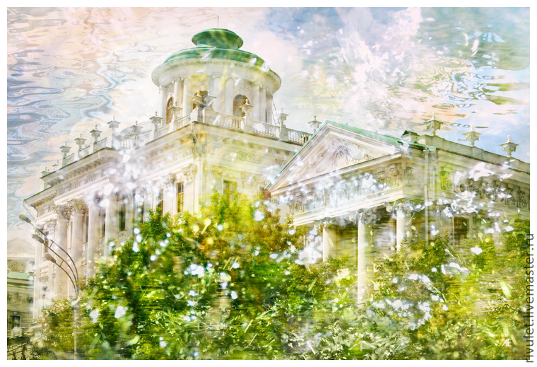 Photo pictures of the city for the interior of the `spring Bouquet` from the series
