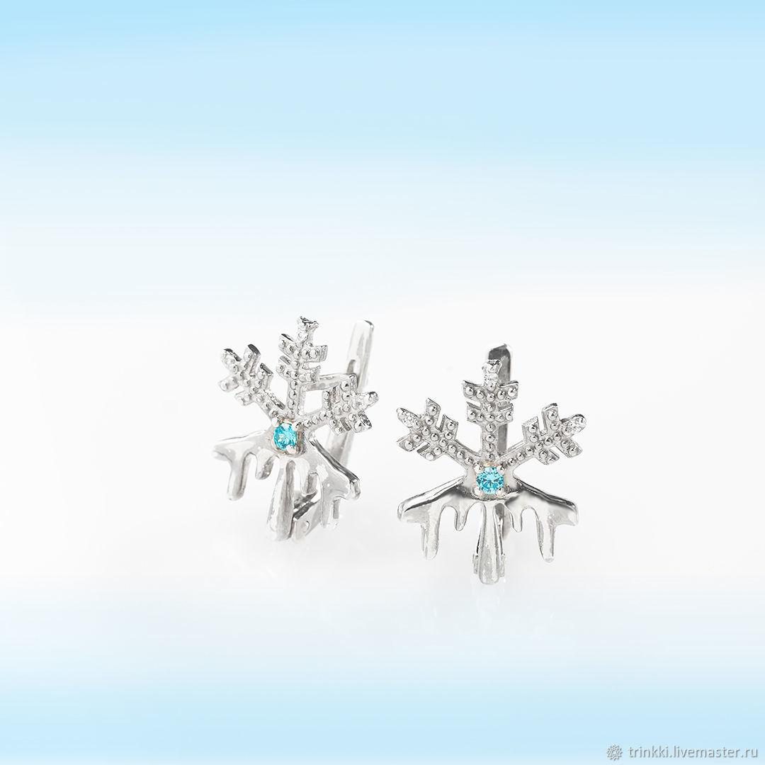 Snowflake earrings, Earrings, Tver,  Фото №1