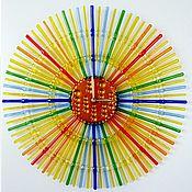 Для дома и интерьера ручной работы. Ярмарка Мастеров - ручная работа Настенные фьюзинг часы Весеннее равноденствие стекло фьюзинг. Handmade.