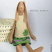 Куклы и игрушки ручной работы. Ярмарка Мастеров - ручная работа Зайка в полосатом(60см) - текстильная игрушка. Handmade.