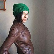 Аксессуары ручной работы. Ярмарка Мастеров - ручная работа Шапка объёмная Green. Handmade.