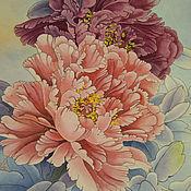 Картины и панно handmade. Livemaster - original item Painting watercolor flowers Red peonies. Handmade.