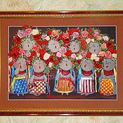 Картины и панно ручной работы. Ярмарка Мастеров - ручная работа Украиночки . Хор. Handmade.